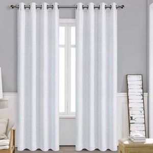Blackout Curtain Panels Silver/White NWOT